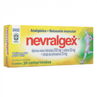 NEVRALGEX 20 CPR RELAXANTE MUSCULAR