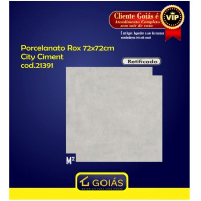 PORCELANATO 72X72CM ROX CITY CIMENT