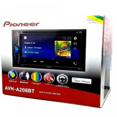 Dvd Pioneer Avh-a208bt Bluetooth Android Ios Usb