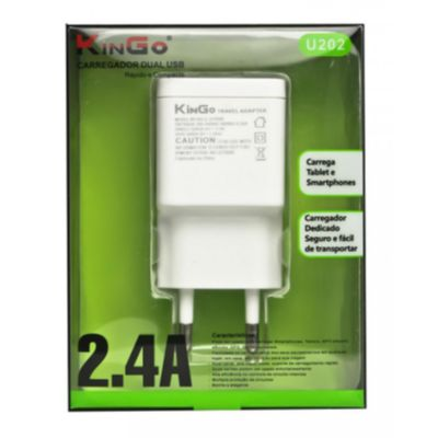 Carregador DUAL USB U202 KINGO