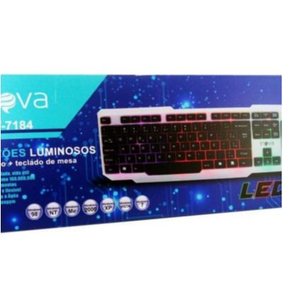 Teclado Inova Usb Com Led Key-7184