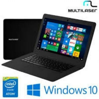 Notebook Multilaser Legacy Intel Quad Core Tela Hd 14 Pol. Windows 10, Ram 2Gb