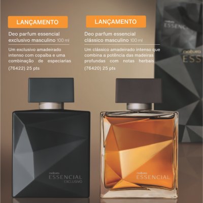 Deo parfum essencial exclusivo e clássico masculino 100 ml